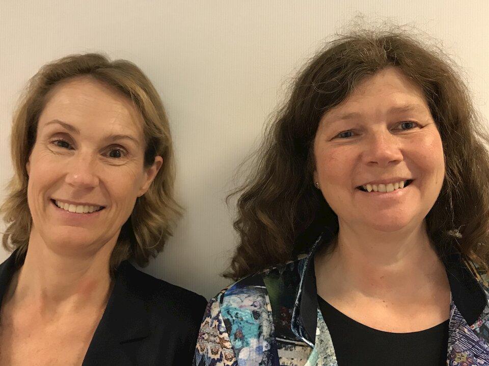 Marianne Ruizeveld en Karin Frikkee